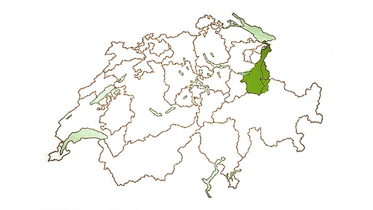 Das geografische Anbaugebiet des Rheintaler Ribelmais
